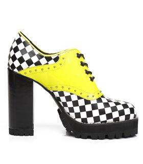 Ellie Tailor Alina gelb schwarz Ankle Boots Damen Herren Übergröße
