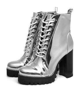 Ellie Tailor Legion silber Ankle Boots Damen Herren Übergröße