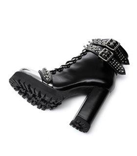 Ellie Tailor Legion Plus schwarz silber Ankle Boots Damen Herren Übergröße