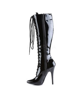 Extrem High Heels DOMINA-2020 - Lack Schwarz