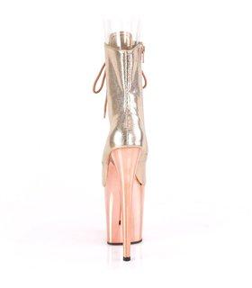 Plateau Heels Flamingo-1020 - Rose Gold Struktur