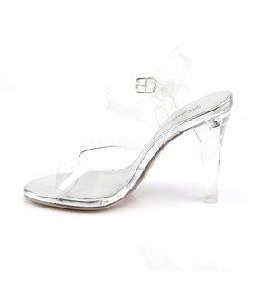 Sandalette CLEARLY-408 - Klar/Silber