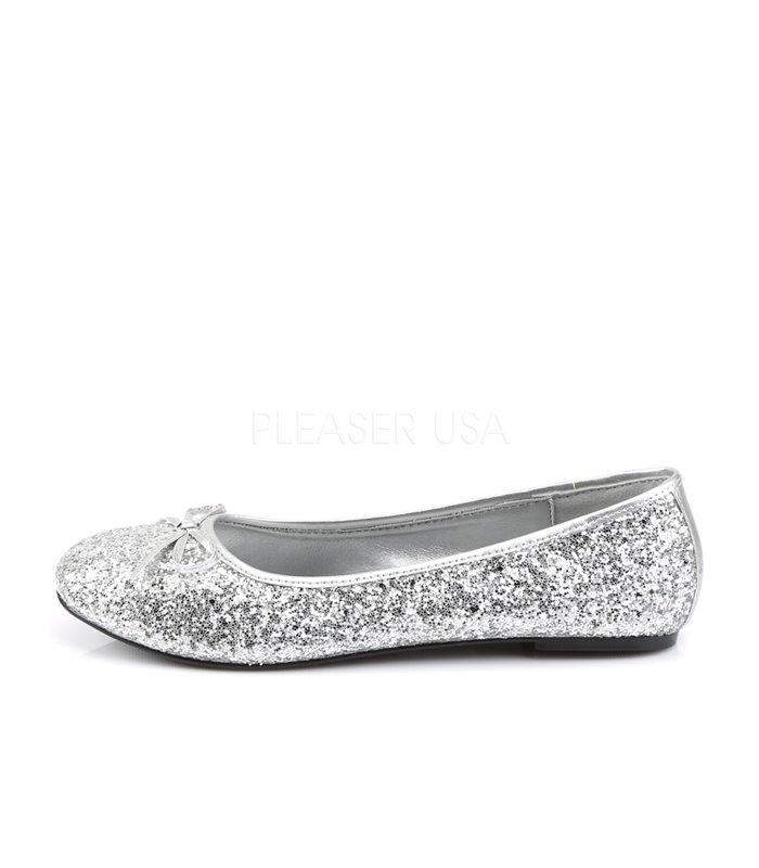 Funtasma Ballerinas STAR-16G Silber Glitzer