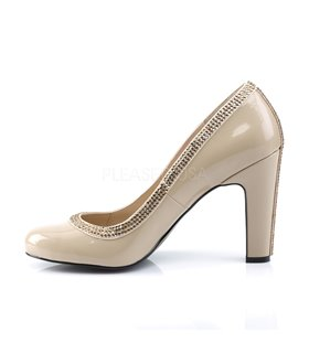 Pleaser Pumps QUEEN-04 Beige